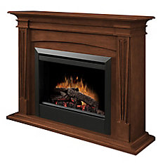 Intermediate Fireplace - Burnished Walnut