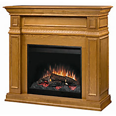 Full Size Fireplace - Oak