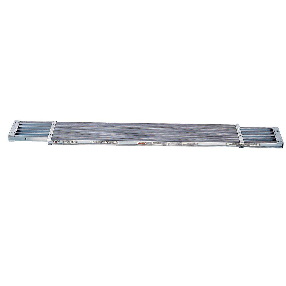 Madrier en aluminium extensible de 2,44 à  3,96 m, classe 1 (capacité de charge 113,4 kg)