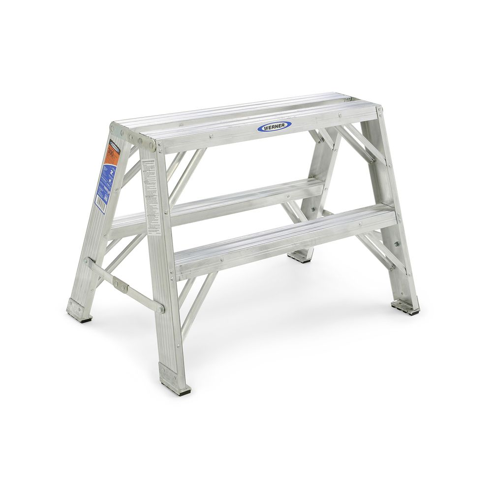 Home Depot Portable Steps : Werner aluminum portable work stand grade a load