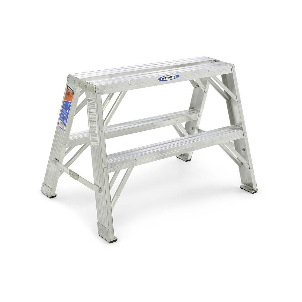 Support de travail portable en aluminium de 0,61 m, classe 1A (capacité de charge 136 kg)