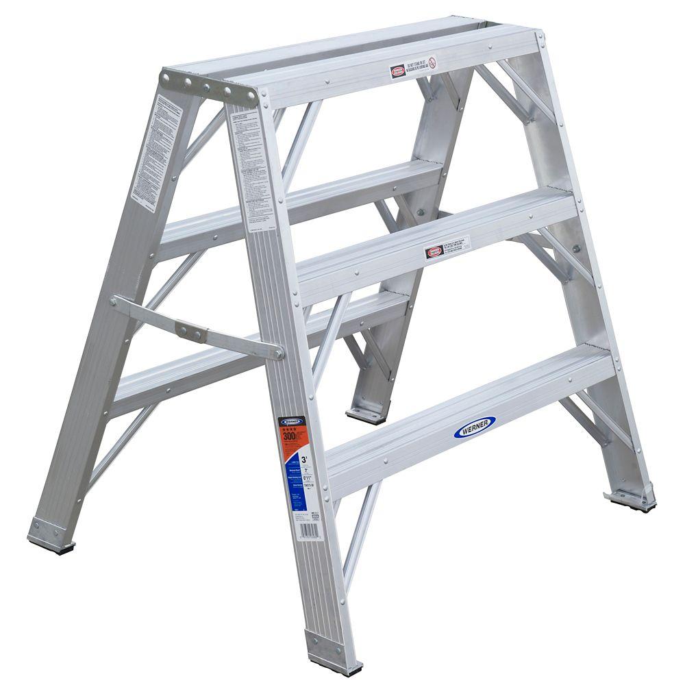 Aluminum Portable Work Stand Grade 1A (300# Load Capacity) - 3 Feet