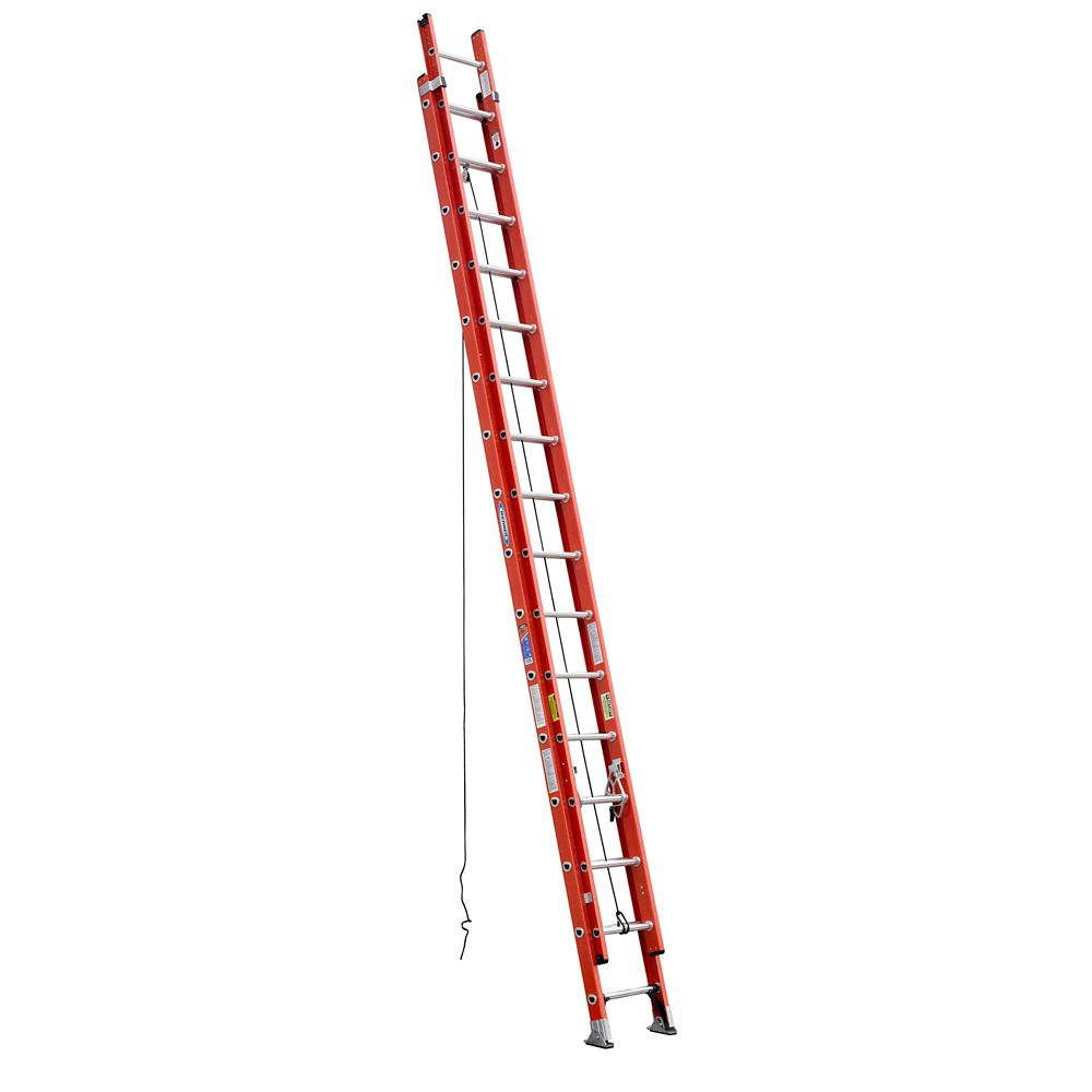 Fiberglass Extension Ladder Grade 1A (300# Load Capacity) - 32 Feet