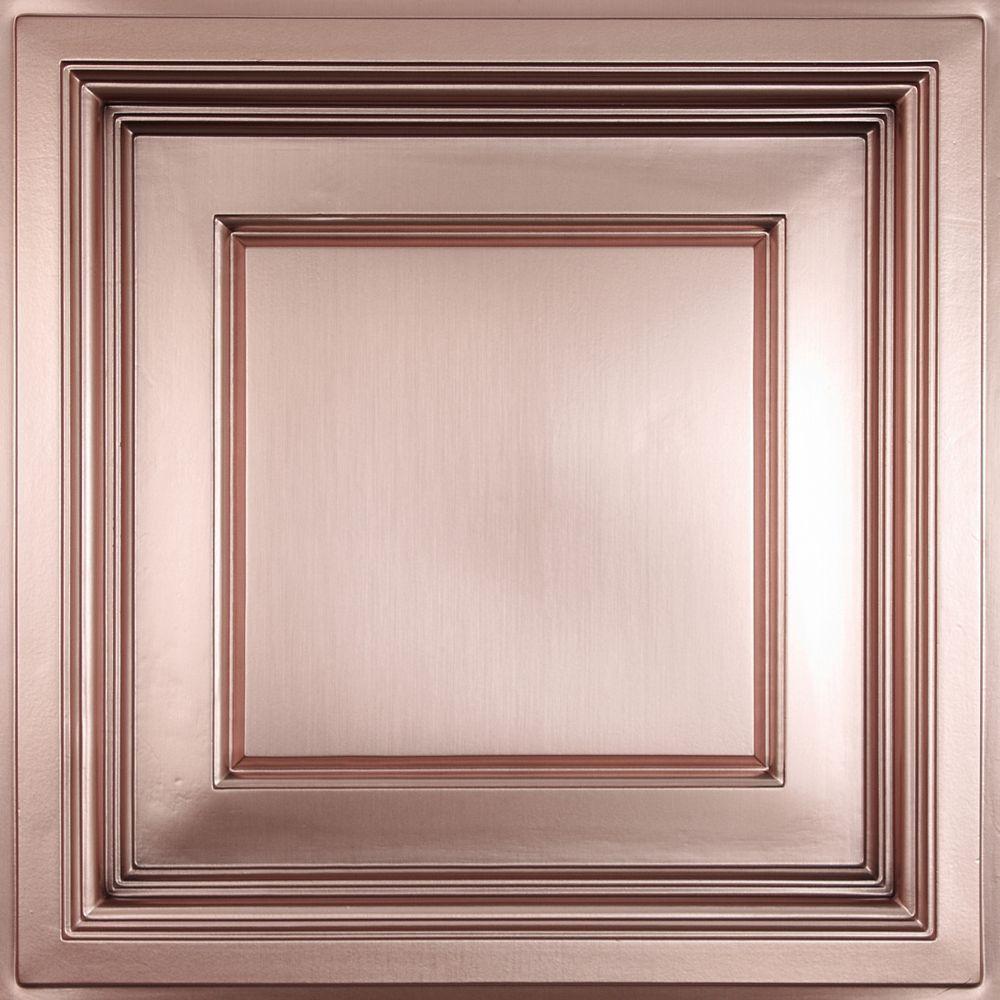 Madison Tuile de Plafond Faux Cuivre Coffrée, 2 pieds x 2 pieds à poser uniquement