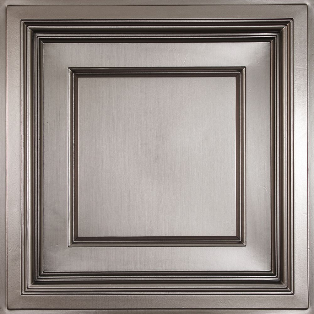 Madison Faux Tin Coffered Ceiling Tile, 2 Feet x 2 Feet Lay-in only