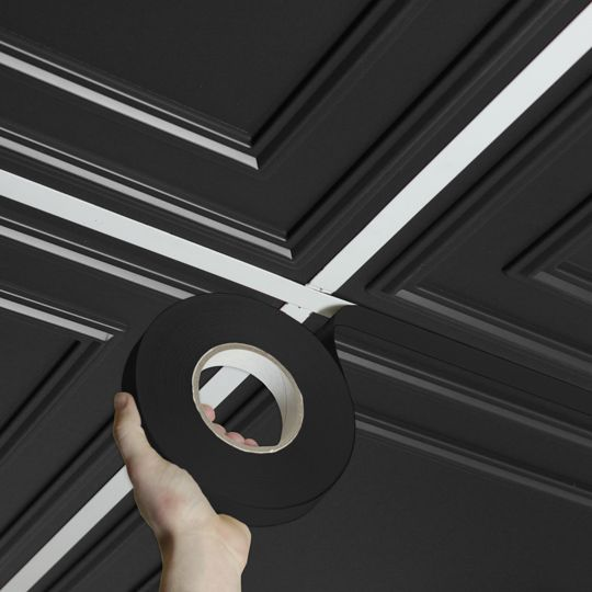 Ceilume Deco Tape Black Self Adhesive Decorative Grid