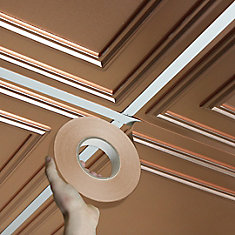 Deco-Tape Faux Copper, Self-Adhesive Decorative Grid Tape, 1inch wide x 100 foot long roll