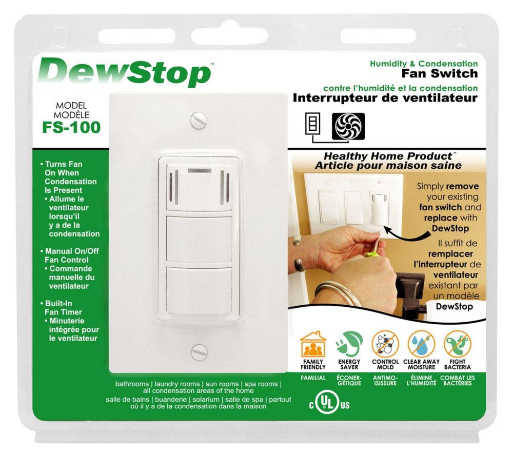 Dewstop Dew Stop, Humidity Sensing Fan Switch