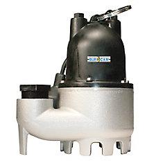 1/3 CV Pompe de puisard submersible en fonte robuste à départ-arrêt automatique.