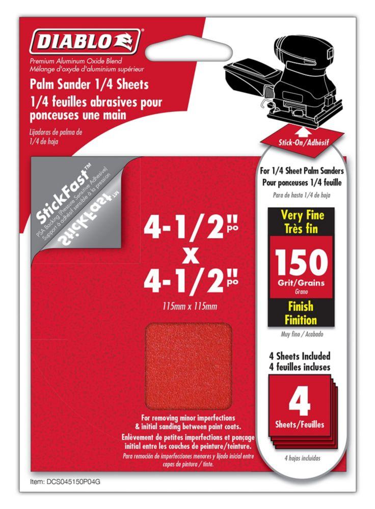 Premium Sanding Sheet 4.5x4.5 Inch 150 Grit