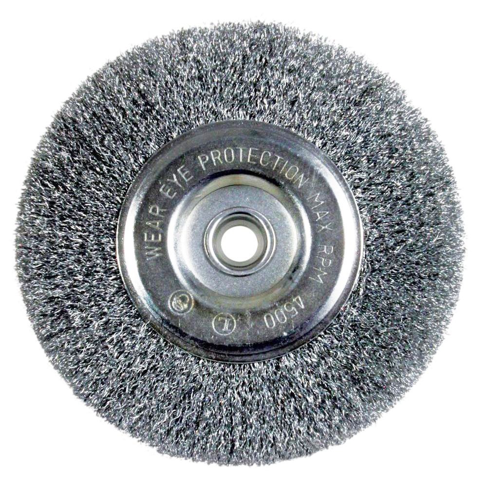 Bench Fine Crimped Wire Wheel