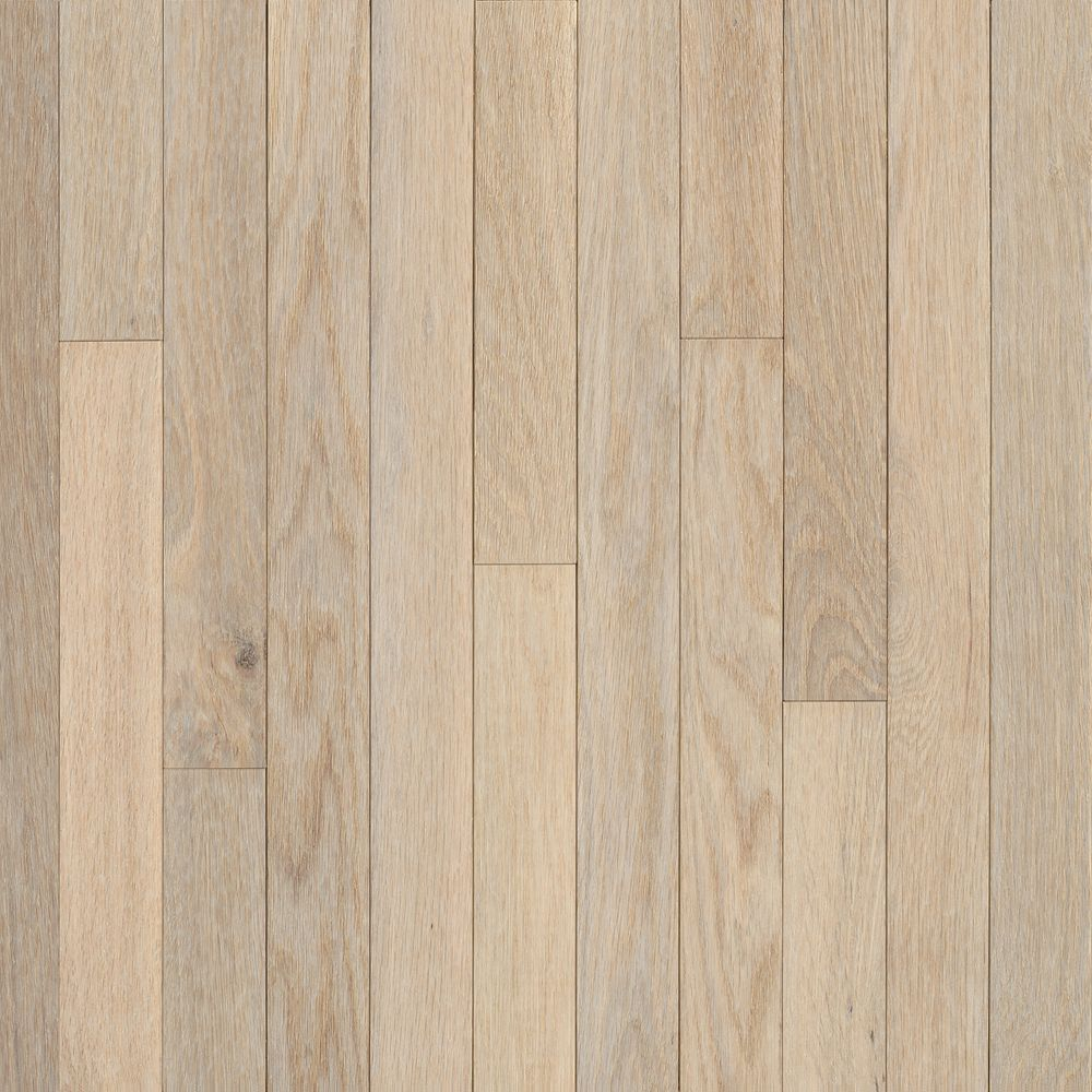 Bruce 2 1 4 inch x 5 16 inch ao oak sugar white solid wood for Hardwood floor 5 16 vs 3 4