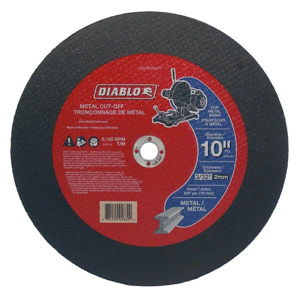 Diablo 10 x 3/32 in.  Metal Cut Off Disc