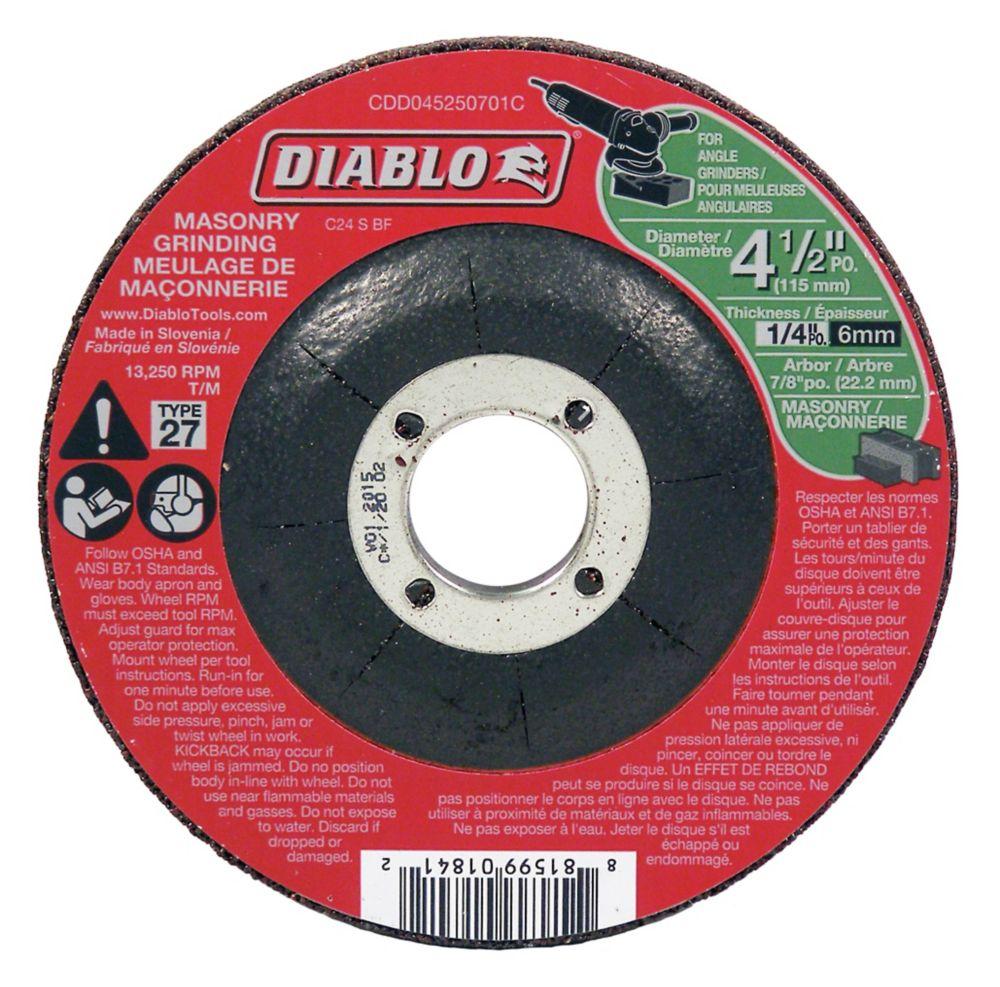 Diablo 4-1/2 in. Masonry Grinding Disc Type 27