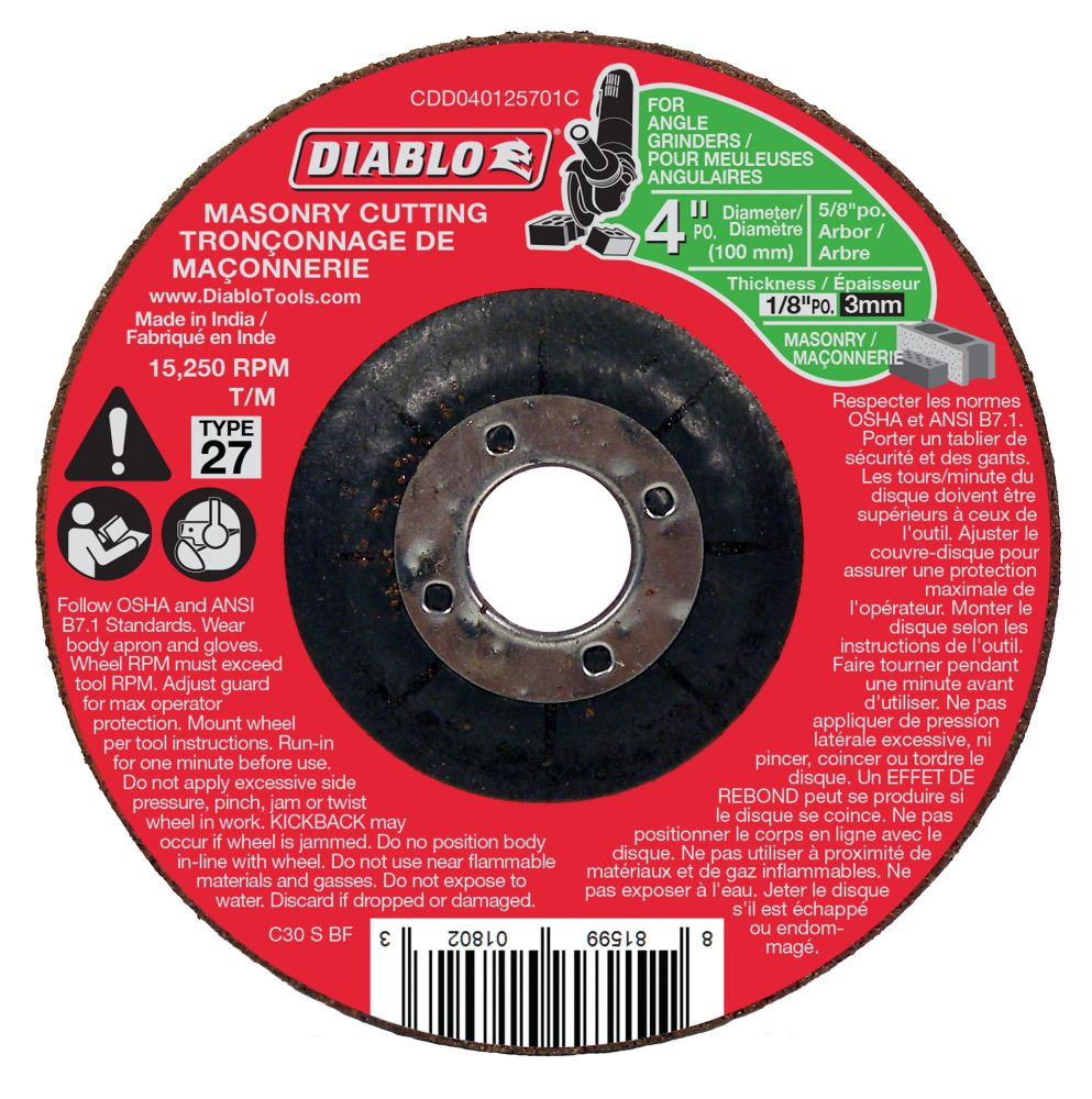 Masonry Cut-Off Disc