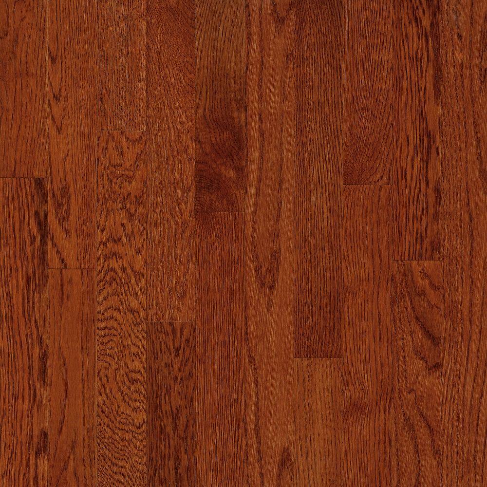 C/S 7,6x 0,9cm Plancher AO en bois dingénierie chêne Ginger Snap - (22 pi. carré par caisse)