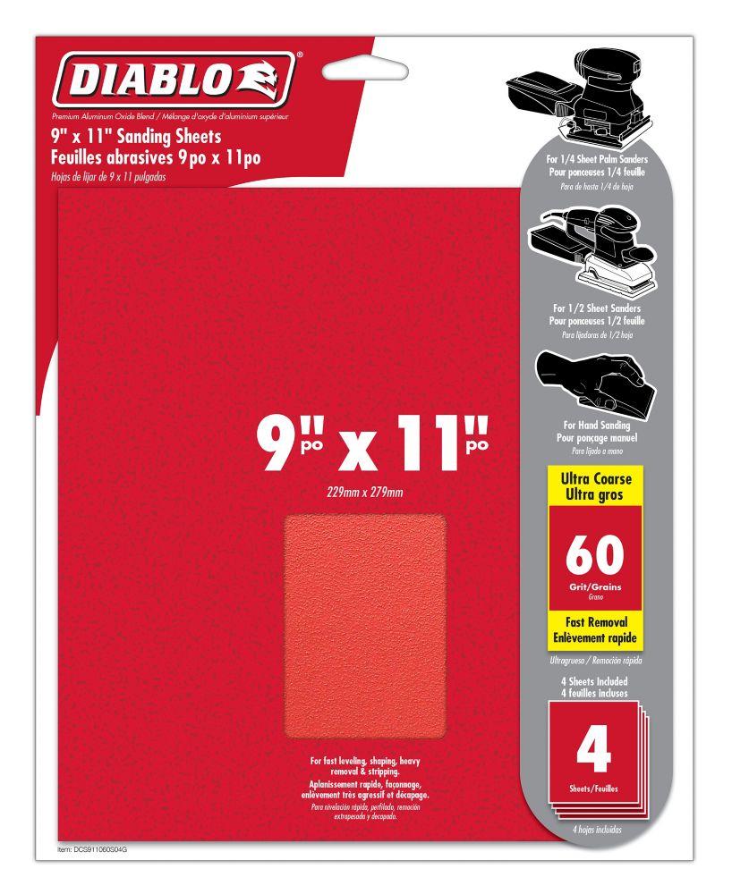 Premium Sanding Sheet 9x11 Inch 60 Grit