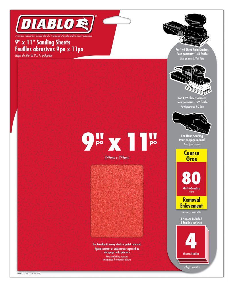 Premium Sanding Sheet 9x11 Inch 80 Grit