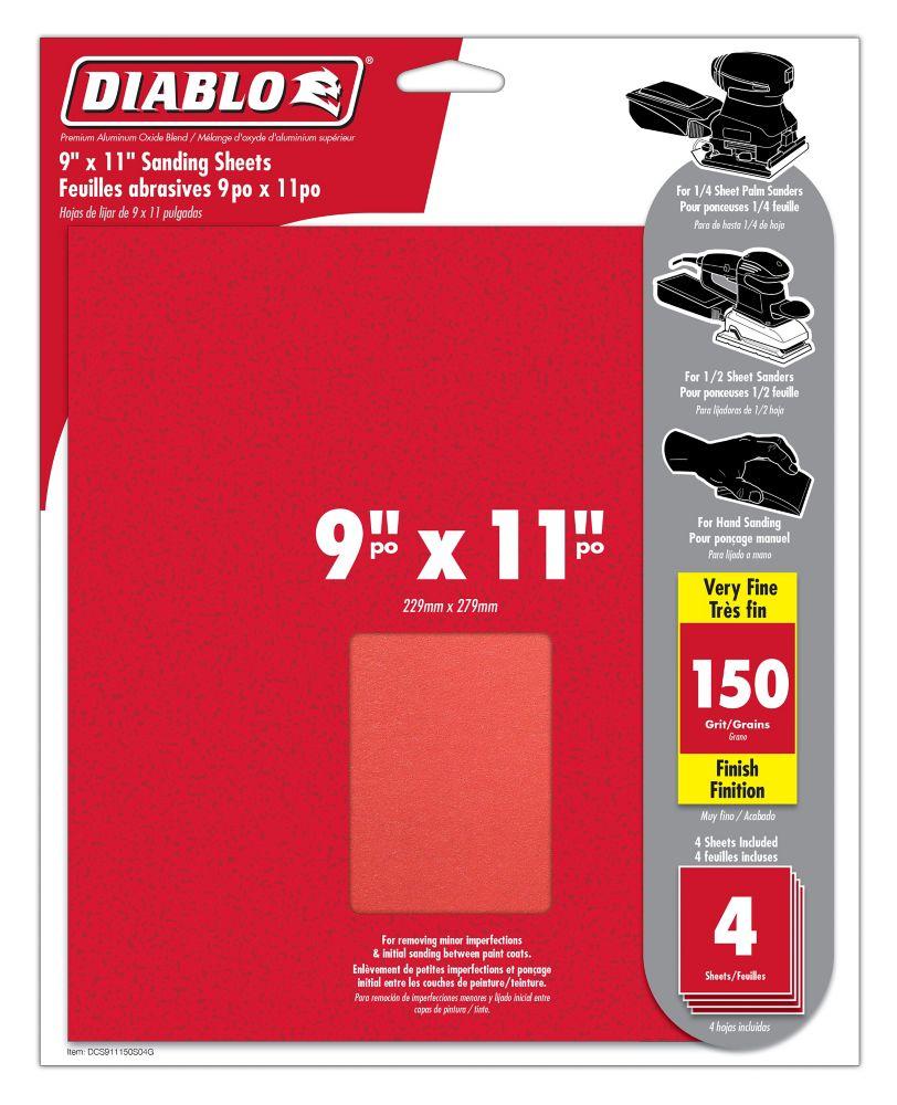 Premium Sanding Sheet 9x11 Inch 150 Grit