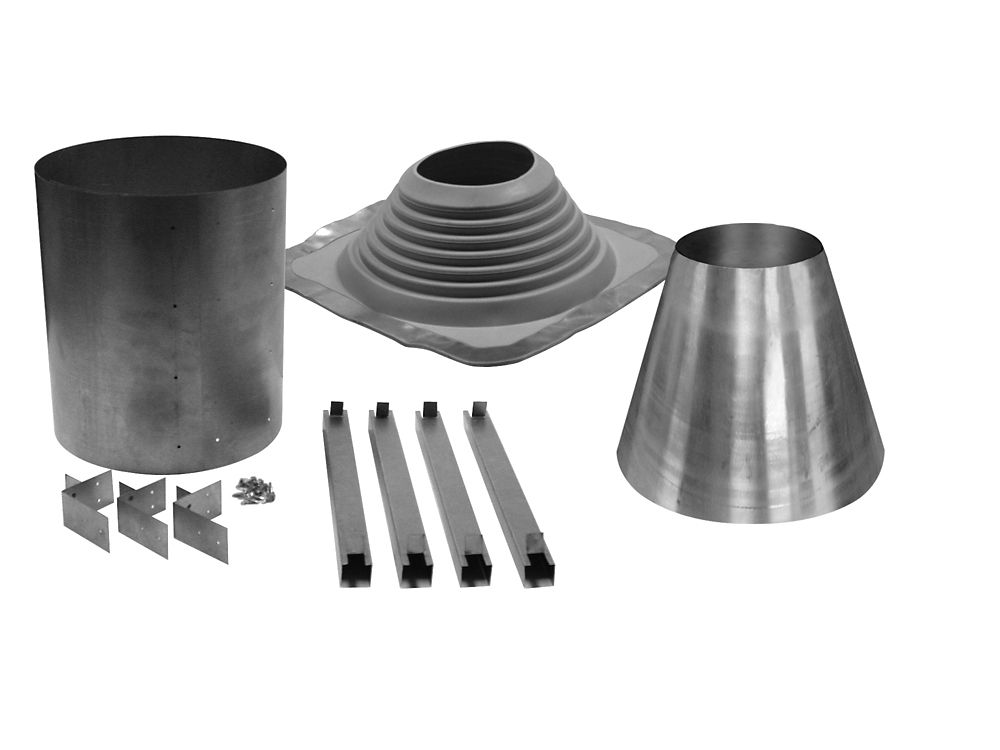 Universal Rubber Boot FL Kit 6-8x2 Inches