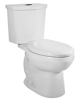 American Standard Cadet 3 2 Piece 6 0 Lpf Dual Flush Elongated Bowl Toilet In White The Home Depot Canada