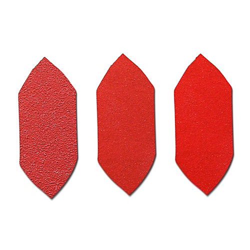 1 1/8-inch 3-Piece Assorted Grits Detail Fingertip Sander Triangles