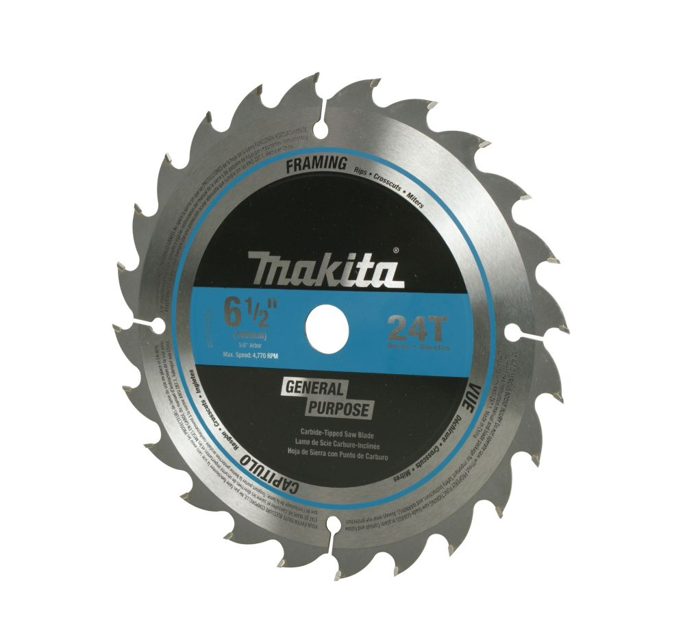 7 1/4 inch Circular Saw Blade 24CT by Canada Makita Circular Saw