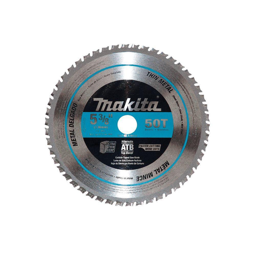 Lame carbure de scie circulaire 5-3/8 po 50 dents - Métaux minces et acier doux