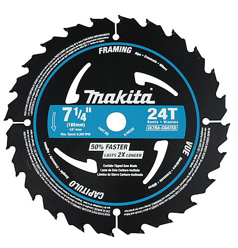 Makita 7 14 circular saw blade 24ct ultra coated the home 7 14 circular saw blade 24ct ultra coated greentooth Image collections