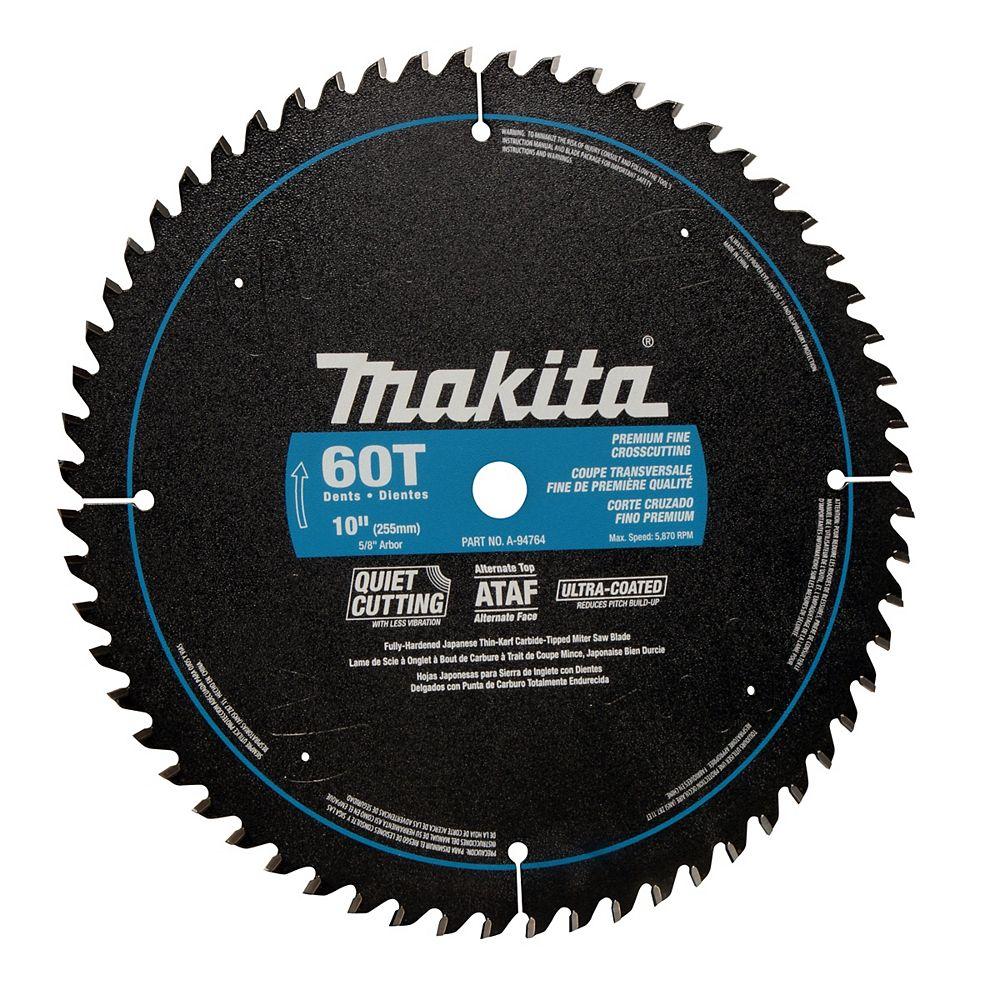 "MAKITA 10"" x 60T CT Smooth Cut Mitre Saw Blade"