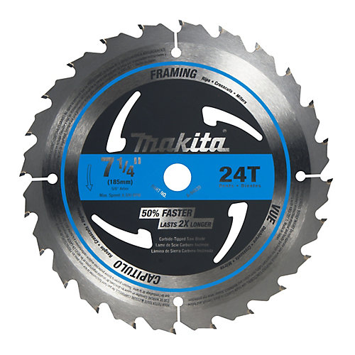 Makita 7 14 inch circular saw blade 24ct the home depot canada 7 14 inch circular saw blade 24ct greentooth Image collections