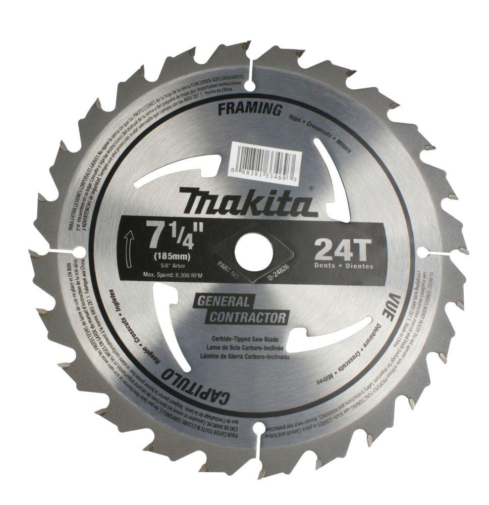 "7 1/4"" Circular Saw Blade 24CT (for electric circular saws)"