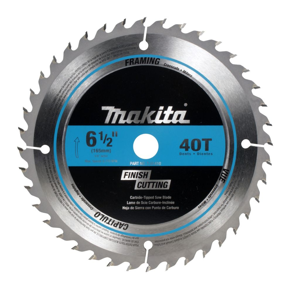 "6 1/2"" Circular Saw Blade 40CT Finish Cutting Crosscutting Mitre Cuts"