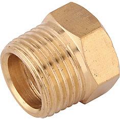 Brass 3/8-inch x 1/4-inch Reducer Plug