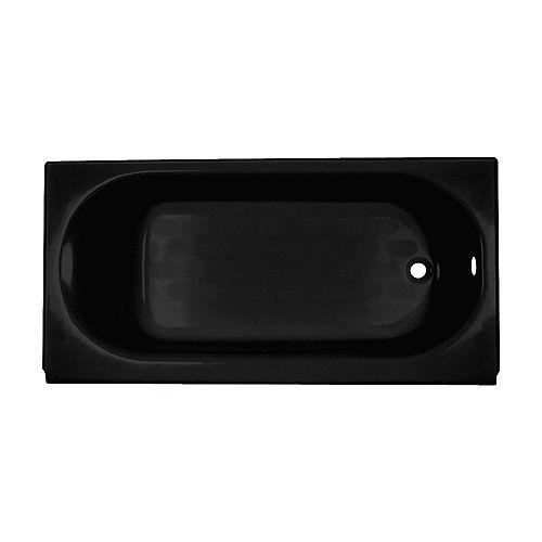 American Standard Princeton 5 ft. Drop-in Rectangular Right-Hand Americast Bathtub in Black