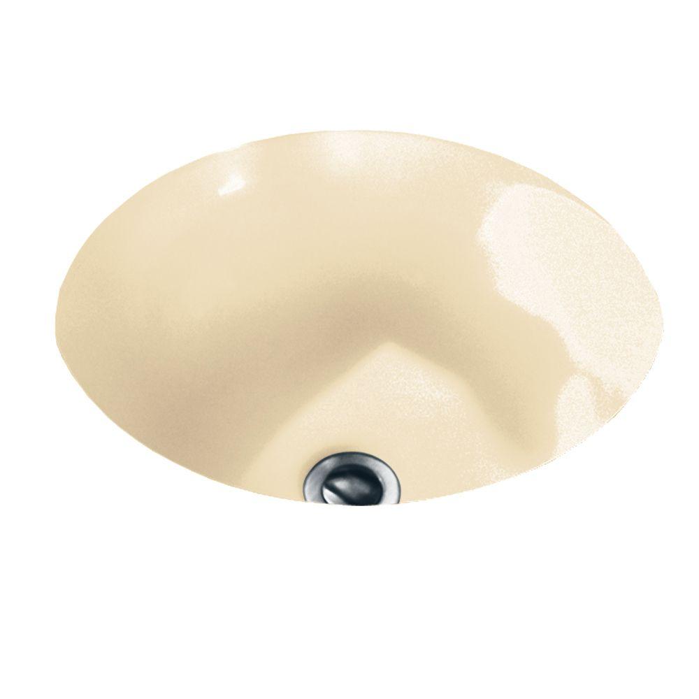 Lavabo de salle de bain sous le comptoir Orbit� fini os