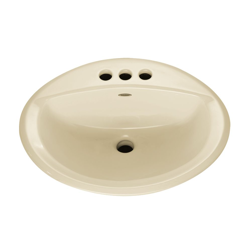 Aqualyn Self-Rimming Drop-In Bathroom Sink in Linen