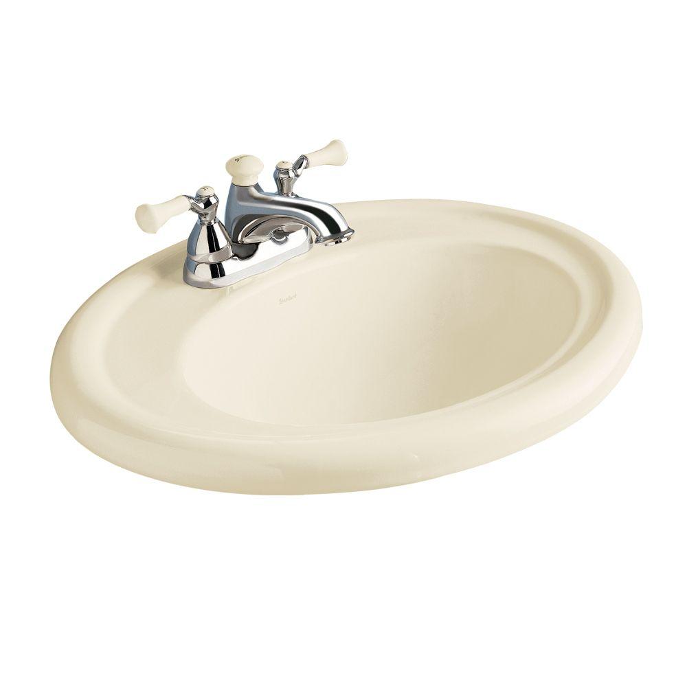 Lavabo sur comptoir de la collection Standard<sup>®</sup> avec espace pour robinet de 8 po, fini ...