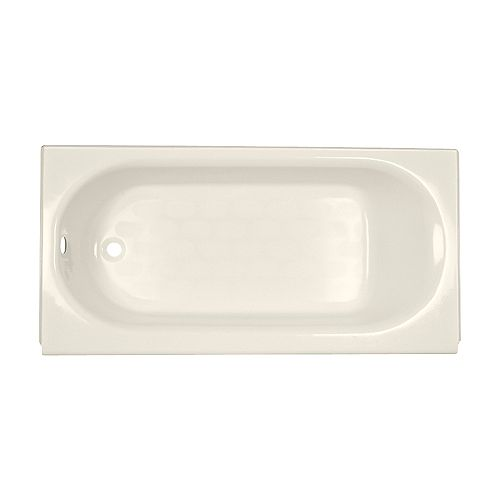American Standard Princeton 60 inch x 30 inch Alcove Left Hand Drain Rectangular Apron Front Bathtub in Linen