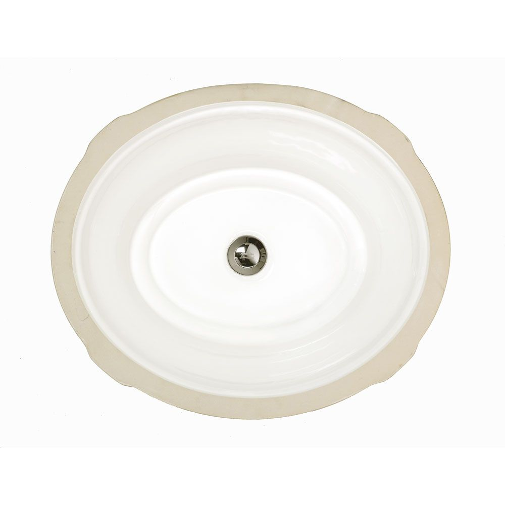 American Standard Tudor Oval Undermount Bathroom Sink in ...