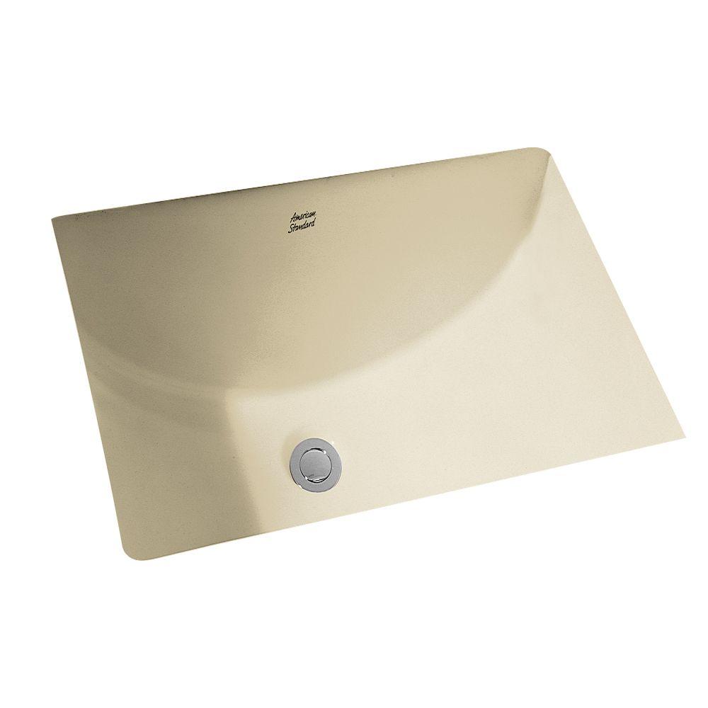 American Standard Studio Rectangular Undermount Bathroom Sink in Linen
