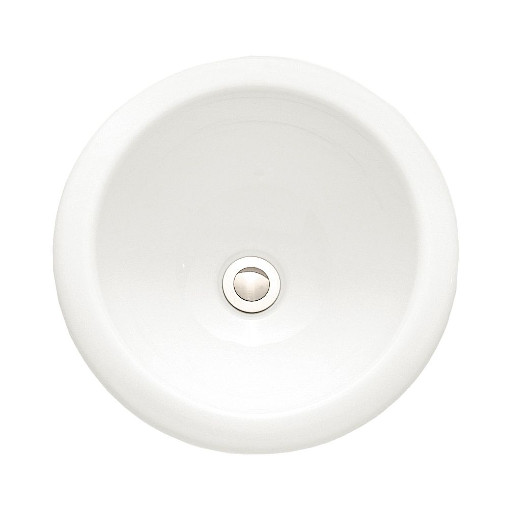 Lavabo sur comptoir Royton� sans plaque de robinet, fini blanc