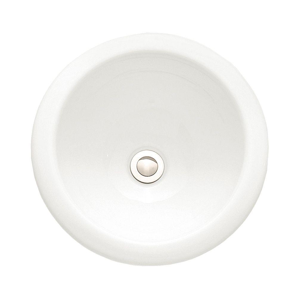Royton Drop-In Bathroom Sink in White