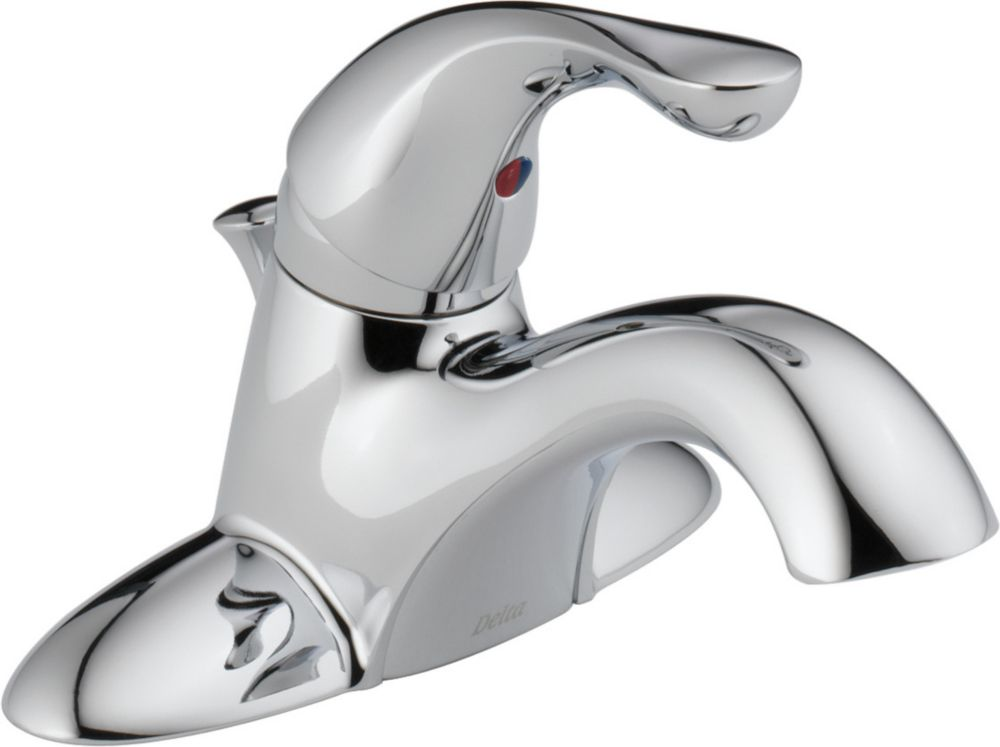 Classic Single-Handle Centreset Bathroom Faucet in Chrome Finish