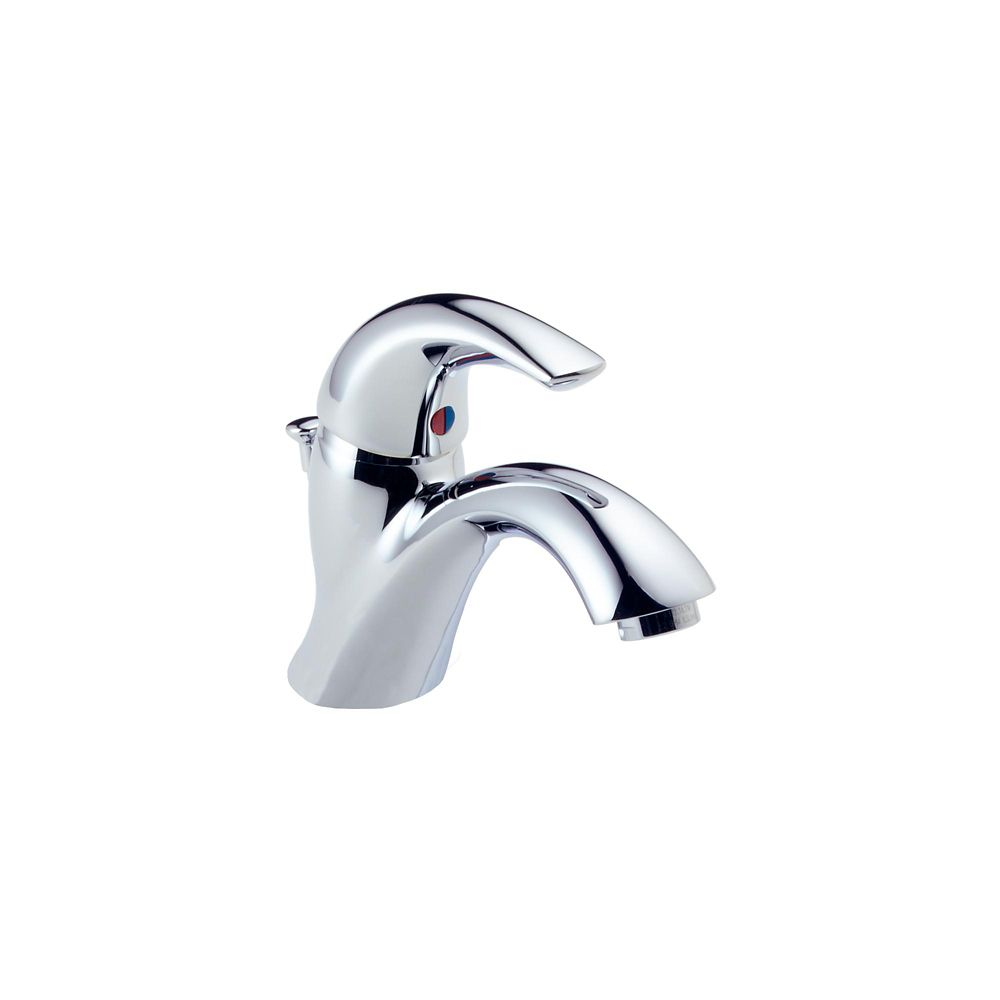 Delta Classic Single Hole 1-Handle Mid Arc Bathroom Faucet in Chrome with Lever Handle