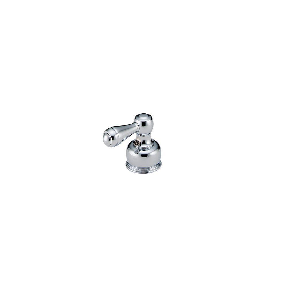 Paire de manettes leviers traditionnelles en chrome pour robinets à 2 manettes