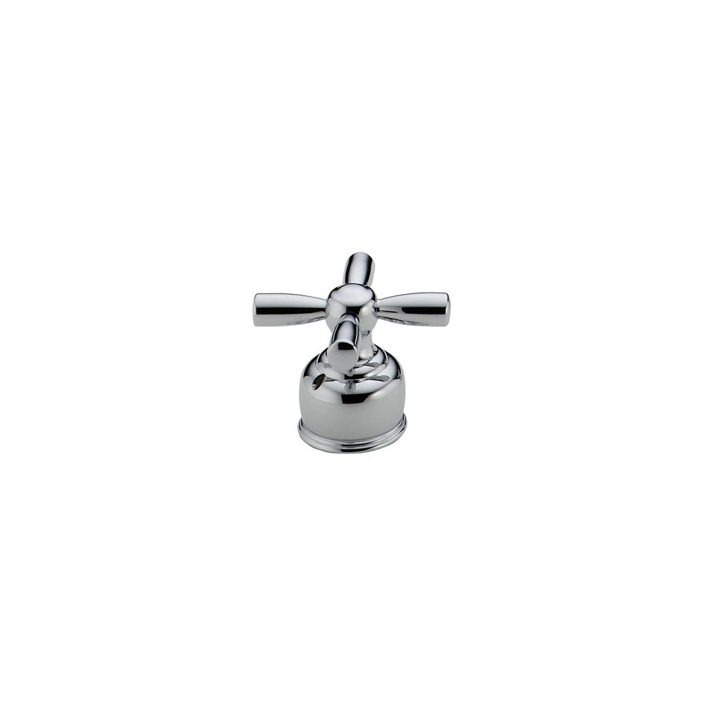 Pair of Cross Handles in Chrome for Roman Tub Faucets