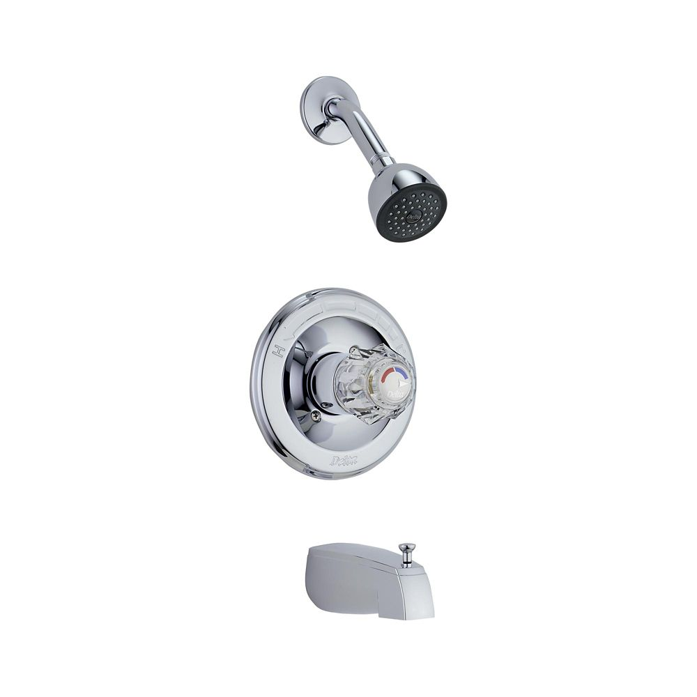 Garniture pour manette simple de douche à équilibrage de pression de la collection Classic en chr...