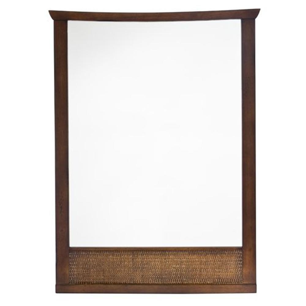 Tropic 31 Inch x 23-1/4 Inch Framed Wall Mirror in Nutmeg 9212.101.336 in Canada