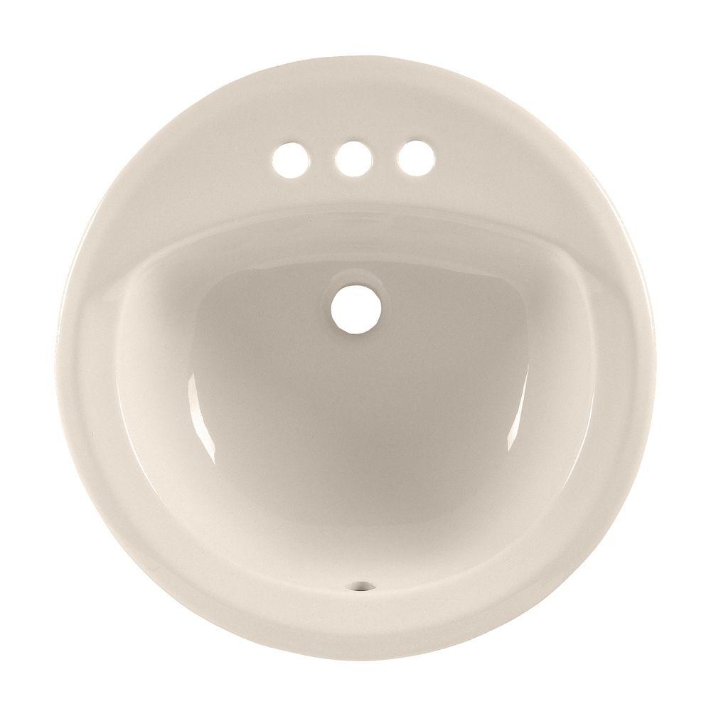 Lavabo sur comptoir à rebord intégré Rondalyn� avec centres de 4 po, de couleur lin